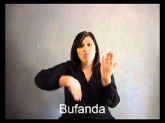 Ropa y colores en lengua de signos Española hablemos con las manos - YouTube