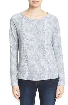 Soft Joie 'Annora B' Python Print Sweatshirt available at #Nordstrom