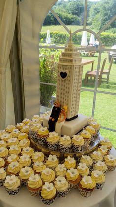 Empire State themed wedding cake