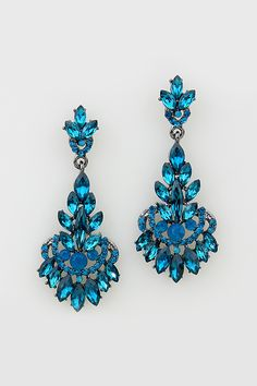 These blue earrings are so beautiful.
