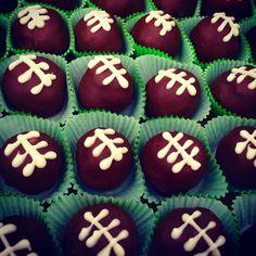 Football themed Cake Bites