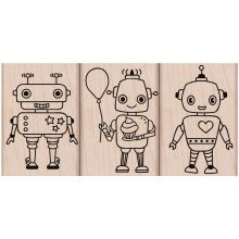 Hero Arts 3 Robots Rubber Stamps