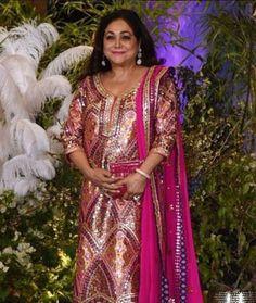 Tina Ambani redefining grace and elegance in #dabiricouture multicolour thread and mirror work outfit #dabiri #dabiricouture #tinaambani #indianwear #indiancouture #sonamkishaadi #everydayphenomenal #handembroidery #multicolor #mirrorwork #indianwear
