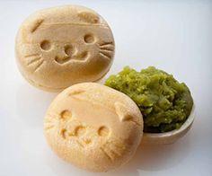 cat monaka - japanese sweets