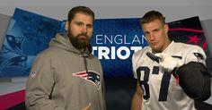 Patriots TE Rob Gronkowski gets German lessons from teammate Sebastian Vollmer.