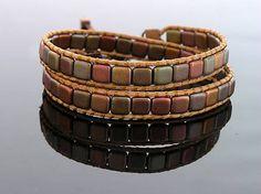 Wrap bracelet kacenkag / V zemitých farbách