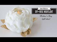 DIY Rose Nightlight - Luz de Noche /Mother's Day Gift Idea - (Plastic Spoons) - YouTube