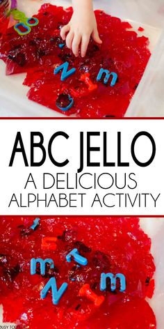 ABC Jello Sensory Play: A silly indoor play activity for toddlers and preschoolers. Practice the alphabet with a delicious sensory activity.