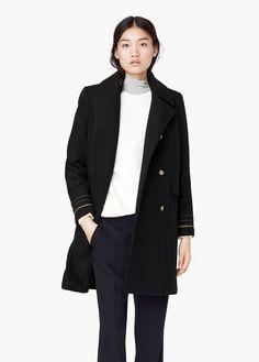 Double-breasted wool coat | MANGO