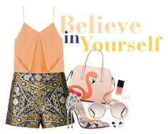 """""""Believe in yourself"""" by gabyidc ❤ liked on Polyvore featuring Kate Spade, 3.1 Phillip Lim, Alice + Olivia, Chloé, Christian Louboutin, Christian Dior, Irene Neuwirth, Gioelli Designs, women's clothing and women's fashion"""