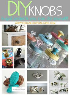 DIY Hardware - Knobs, Rods, Hinges and More - DIY Knobs and Restoration Hardware Ideas for your home on Frugal Coupon Living.
