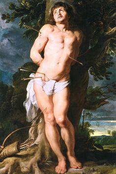 """Peter Paul Rubens - """"Saint Sebastian"""" - 1618"""