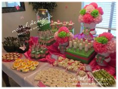 Butterfly 1st Birthday Custom Buffet Table & Party Favors