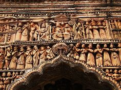 Terracotta Arch, Pratapeswar Temple - A Century Temple in West Bengal. Nepal, Amazing India, Indian Temple, Indian Architecture, Visit India, India Art, India And Pakistan, West Bengal, Places Of Interest