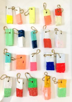 buoy handpainted key rings