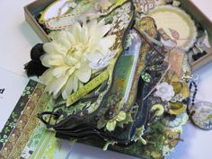 """With A Grin: Scrapbooking """"How-To"""" Make a Mini Album *FOR BEGINNERS*"""