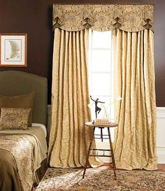 swag curtains for triple windows - Google Search