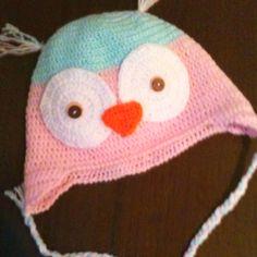 Little owl crochet hat for my sweet little girl.