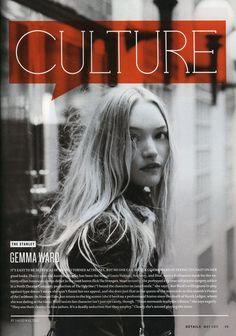 Gemma Ward for Details Magazine - May 2011