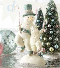 ♥ NEW Dept 56 SNOWBABIES Figurine SNOWMAN ICE SKATE Snow Baby Statue WALTZ DANCE