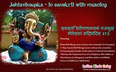 Know the meaning of sanskrit slok of Lord Ganesha - 'Ashtavinayaka'