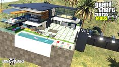 Gta 5 Mods, Graphics, Mansions, Games, House Styles, Toys, Beach, Modern, Youtube