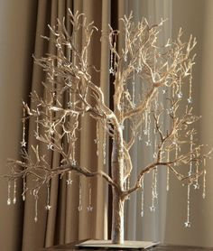Gold Christmas Tree With Christmas Ornaments, Christmas Decorations