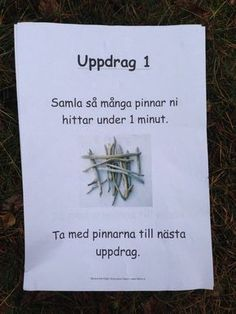 Uppdrag utomhus - få in flera områden i matte! Kids Barn, Learn Swedish, Swedish Language, Winter Activities For Kids, Outdoor Education, 1 An, Play To Learn, Rainbow Dash, Business For Kids