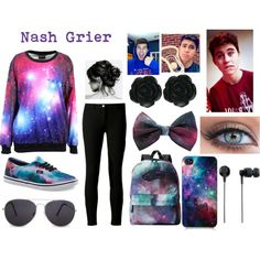 """Nash Grier"" by john-green-hurt-me on Polyvore"