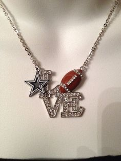 14k gold dallas cowboys football pendant see more cowboys dallas cowboys necklace by beckyschunkystuff on etsy 2500 aloadofball Gallery