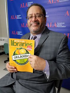 Michael Eric Dyson, professor of sociology at Georgetown and civil rights advocate, at the ALA Annual Conference in Orlando, Florida, June 24, 2016.