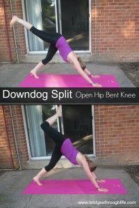 downdog split open hip