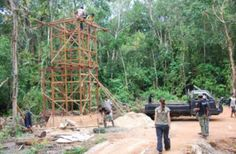 The new orangutan house being built at Ketapang Borneo for orangutans including Mely. Great org IAR International Animal Rescue and g8 campaign by Daily Mail