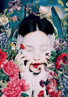 """Saatchi Art Artist Alexandra Gallagher; Collage, """"Chasing Poppy"""" #art"""