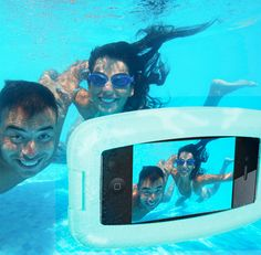 Waterproof iPhone Case for capturing summer fun moments! Follow PoolSupplyWorld on www.facebook.com/... for more awesome pool pics!