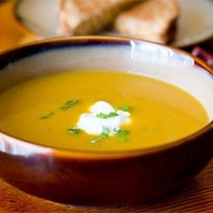 Butternut and Apple Harvest Soup - (use sweet potato and honey crisp apple as substitute per review)