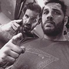 Tom Hardy and Paul Anderson (costarred in Legend)