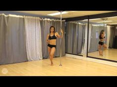 Pole Dance Tutorial - Power Spiral,Spinning Helicopter, Scorpio combo - YouTube