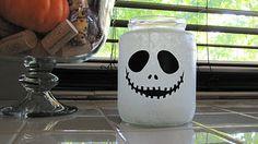e48ed0791b Jack Skellington jar - made from a glass pickle jar