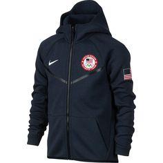 0ffeedb32664 Youth Nike Navy Team USA Tech Fleece Full-Zip Jacket