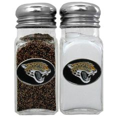 """Checkout our #LicensedGear products FREE SHIPPING + 10% OFF Coupon Code """"Official"""" Jacksonville Jaguars Salt & Pepper Shaker - Officially licensed NFL product Licensee: Siskiyou Buckle Glass shaker set Steel toppers No game day event is complete without your team shakers Jacksonville Jaguars metal emblems on each shaker - Price: $26.00. Buy now at https://officiallylicensedgear.com/jacksonville-jaguars-salt-pepper-shaker-fshk175"""