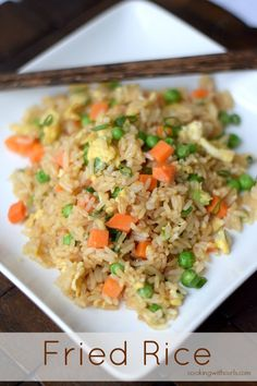 Super easy traditional Fried Rice just like your favorite take-out, but much healthier.