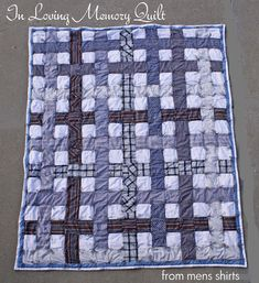Running With Scissors: SYTYC Week 3: In Loving Memory Quilt