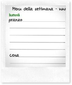 Casa Organizzata - Organizzazione: importanza della pianificazione dei menu settimanali