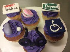 40th birthday cupcakes.