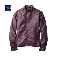 (GU)レザータッチライダースジャケット - GU ジーユー