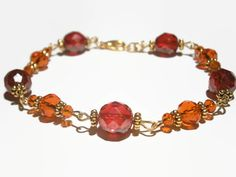 Hey, I found this really awesome Etsy listing at https://www.etsy.com/listing/178786088/red-beaded-bracelet-czech-glass-jewelry