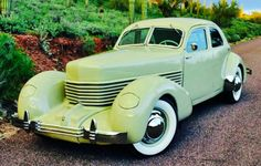 1935 Cord 810/812. Front wheel drive and hidden headlights. One of the first autos to feature them....
