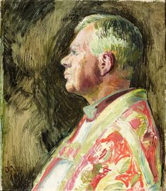 Bishop Bell of Chichester by Duncan Grant. Bishop Bell commissioned Duncan Grant in 1941 to paint a series of murals for Berwick Church, Sussex. He was keen to encourage a closer association between the Church and the arts, and also wanted to continue the tradition of wall paintings in Sussex churches.