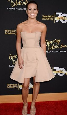 Lea Michele in August Getty Atelier the Television Academy's 70th Anniversary Celebration Gala.